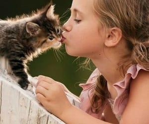 littlegirl and her kitty image