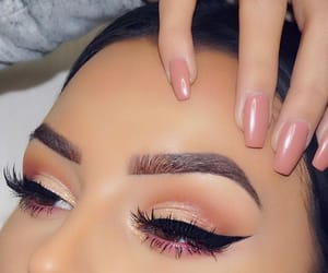 beautiful, makeup, and brown eyes image