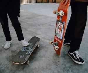grunge, skateboard, and vans image