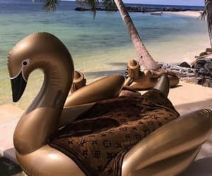 beach, luxury, and ocean image