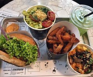 aesthetics, burger, and fast food image