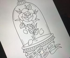 beauty and the beast, disney, and tattoo image