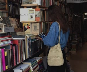 books, girl, and aesthetic image