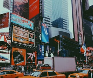 billboards, bright, and city image