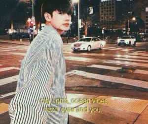 aesthetic, citylights, and quotes image