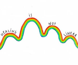 quotes, rainbow, and healing image