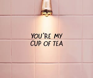 quotes, tea, and pink image