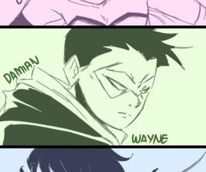 batman, damian wayne, and lucy quinn image