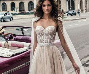 dress, style, and wedding image