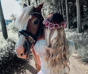 animal, blonde, and girl image