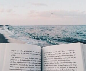 book, ocean, and reading image