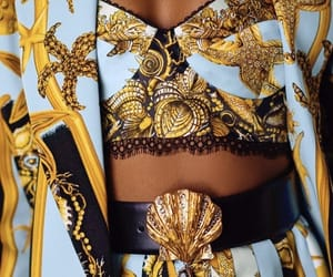 Versace, fashion, and gold image