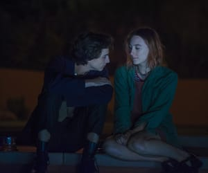 Saoirse Ronan, timothee chalamet, and lady bird image