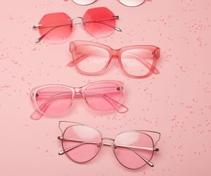 pink and glasses image