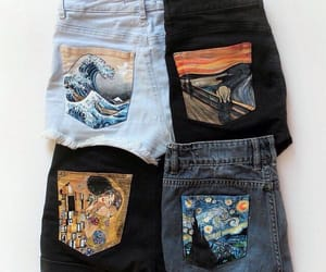 art, fashion, and jeans image
