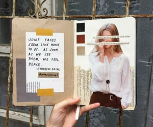 art, Collage, and diary image