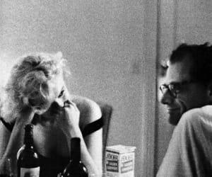 Marilyn Monroe, arthur miller, and vintage image