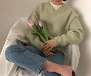 aesthetic, clothes, and green image