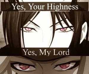 black butler, highness, and lord image