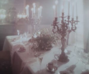 vintage, candle, and white image