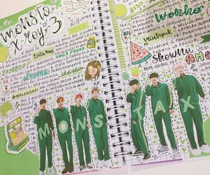 green, journal, and kpop image