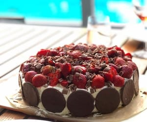 chocolate, delicious, and fruit image