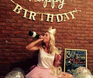 cake, champagne, and princess image