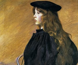 female artists, lilla cabot perry, and young bicyclist image