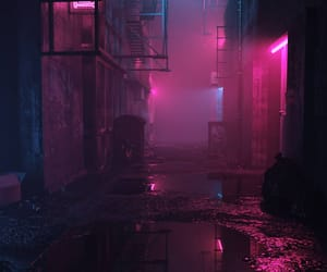 neon, pink, and dark image