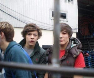 boys, louis tomlinson, and Harry Styles image