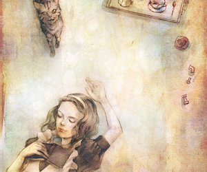 alice, cat, and art image