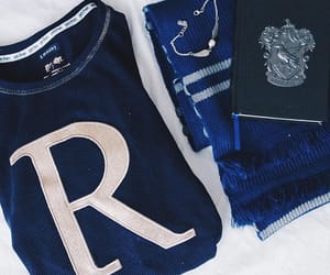 blue, harry potter, and hogwarts image