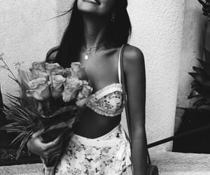 cindy kimberly, model, and flowers image
