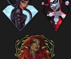 harley quinn, poison ivy, and mulher gato image