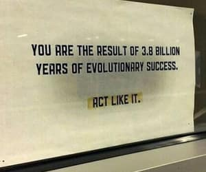 quotes, evolution, and act like it image