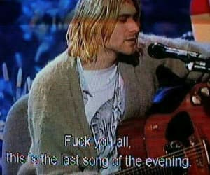 grunge, kurt cobain, and song image