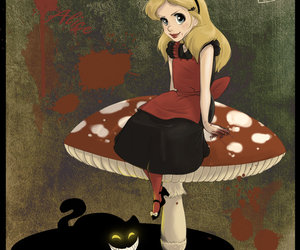 alice, alice in wonderland, and dark image