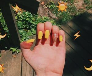 acrylics, nails, and summer image