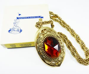 chain necklace, victorian style, and oval pendant image