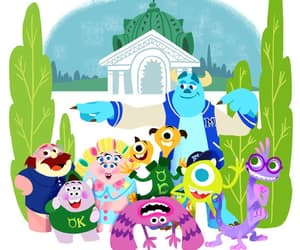pixar, monster inc, and monster university image