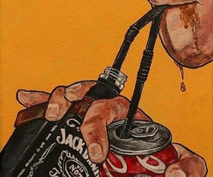 jack daniels, coca cola, and drink image