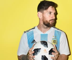 football, argentina, and messi image