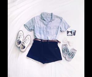 black, blouse, and blue light image