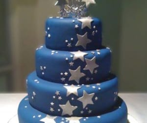 blue, cake, and quincenera image