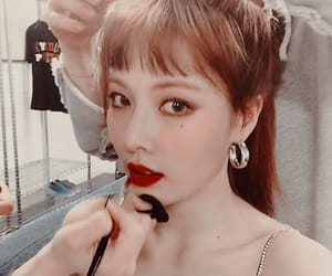 girl, kpop icon, and red lips image