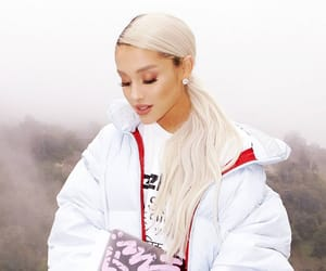 white and arianagrande image