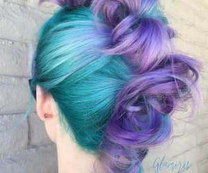 awesome hair, hair style, and colored hair image