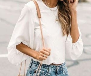 brown bag, outfits, and shorts image