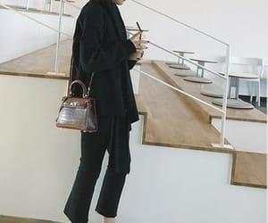 black, minimal, and pants image