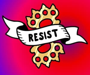 the resistance, join today, and dress to express image